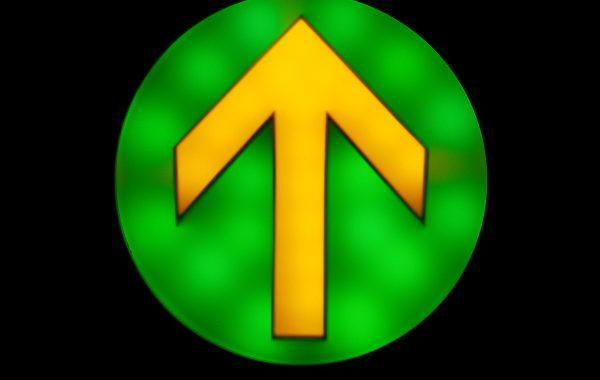 Pfeil gelb/grün